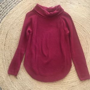Loft Cranberry Sweater